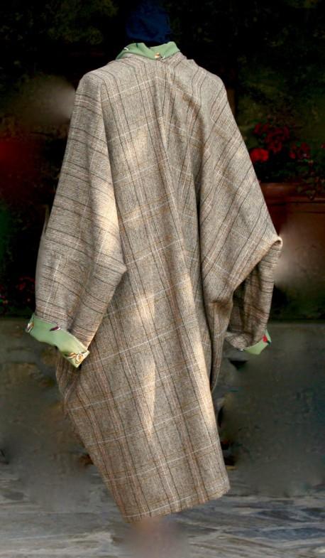 Manteau pure laine mi saison Après la mousson