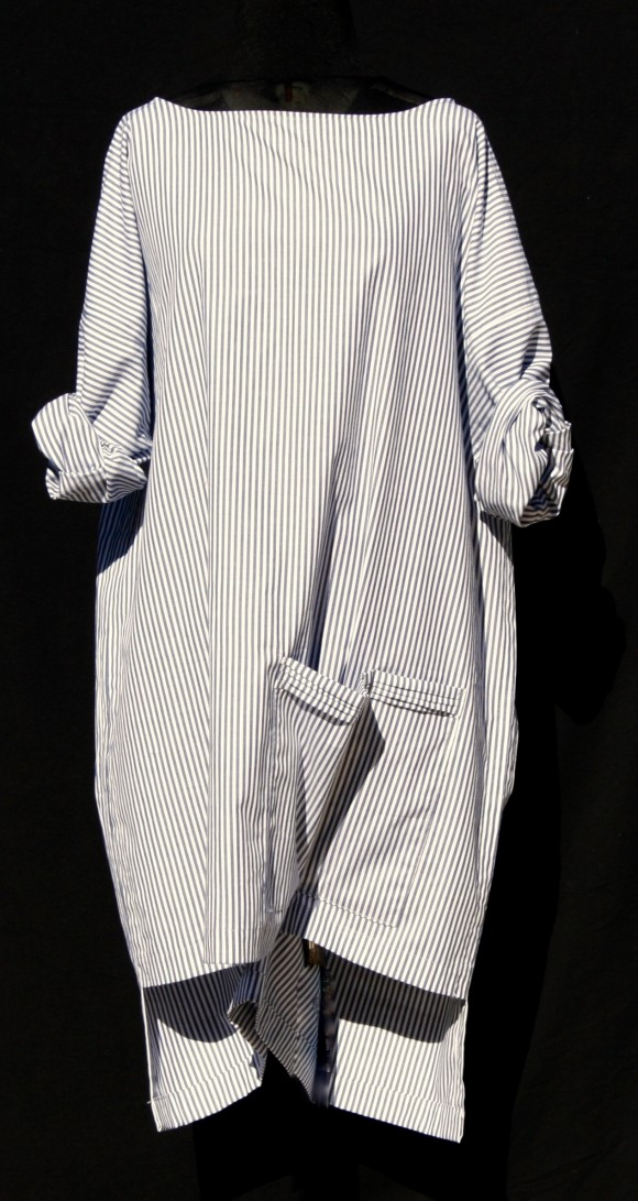 robe tunique rayures bleu blanc