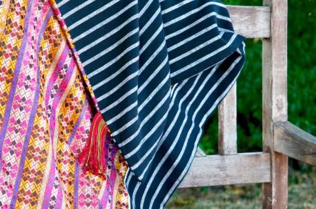 Plaid coton et soie Après la mousson